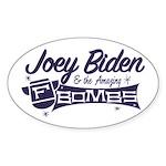 Biden & the F-Bombs Sticker (Oval)