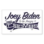 Biden & the F-Bombs Sticker (Rectangle)