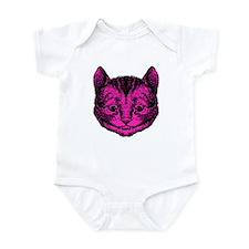 Cheshire Cat Pink Fill Infant Bodysuit