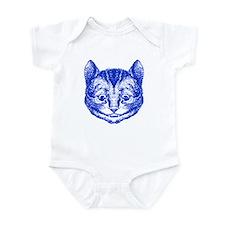 Cheshire Cat Blue Infant Bodysuit