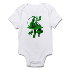 Alice and Caterpillar Green Infant Bodysuit