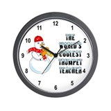 Cool Trumpet Teacher Wall Clock