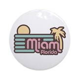 Miami Florida Ornament (Round)