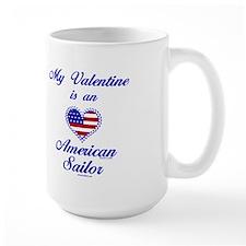 My Navy Valentine Mug