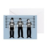 Criminal Mimes Greeting Cards (Pk of 10)