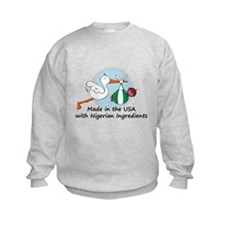 Stork Baby Nigeria USA Sweatshirt