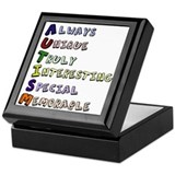 Autism Acronym Keepsake Box