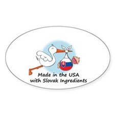 Stork Baby Slovakia USA Decal