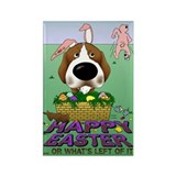Beagle Happy Easter Rectangle Magnet (10 pack)