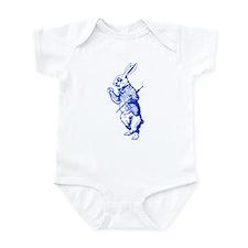 White Rabbit Blue Infant Bodysuit