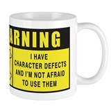 WARNING: Character Defects Small Mugs