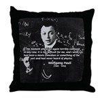 Comedy on Quantum Theory Throw Pillow