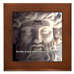 Humorous Greek Beer Quote Framed Tile