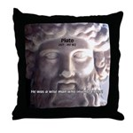 Humorous Greek Beer Quote Throw Pillow