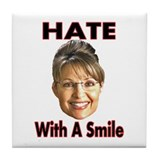 Smiling Hate Tile Coaster