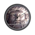 Humorous Greek Beer Quote Wall Clock