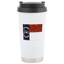Vintage North Carolina State Ceramic Travel Mug