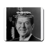 Reagan Quote on Hard Work Mousepad