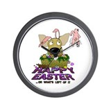 Chihuahua Easter Wall Clock