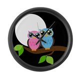 Owl love you Large Wall Clock