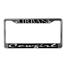 Urban cowgirl License Plate Frame