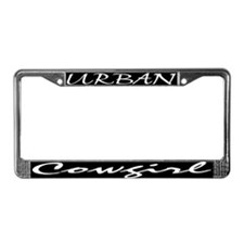 Funny Urban cowgirl License Plate Frame