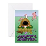 Dachshund Easter Greeting Cards (Pk of 20)