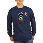 Husky - Happy Easter Long Sleeve Dark T-Shirt
