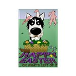 Husky - Happy Easter Rectangle Magnet (100 pack)