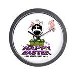 Husky - Happy Easter Wall Clock