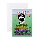 Husky - Happy Easter Greeting Card