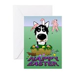 Husky - Happy Easter Greeting Cards (Pk of 20)