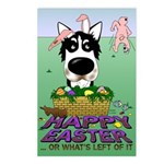 Husky - Happy Easter Postcards (Package of 8)