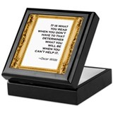 What you read Keepsake Box