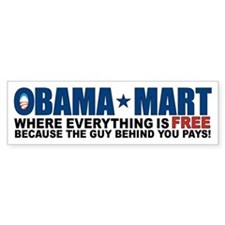 Obama Mart Bumper Sticker