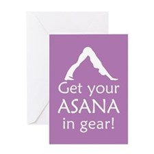 Yoga Get Your Asana In Gear Greeting Card