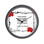 Paradise Library Wall Clock