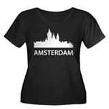 Amsterdam Skyline Women's Plus Size Scoop Neck Dar