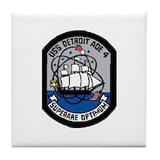 USS Detroit AOE 4 Tile Coaster
