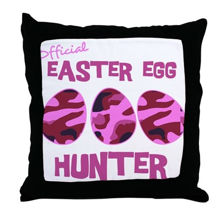 Easter Egg Hunter Throw Pillow