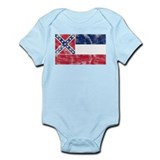 Vintage MS State Flag Infant Bodysuit
