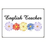 English Teacher Flowers Banner