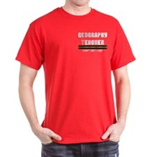 Geography Teacher Pocket Image T-Shirt