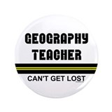 "Geography Teacher 3.5"" Button (100 pack)"