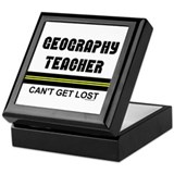 Geography Teacher Keepsake Box