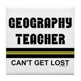 Geography Teacher Tile Coaster