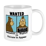 Wanted Bigfoot Mug