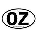 OZ Wizard Oval Decal