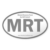 Mutant Recovery Team-Do Not Ticket Oval Decal