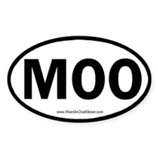 MOO Oval Decal